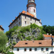 Стоковое фото: Tower of the Cesky Krumlov Castle, Czech Republic