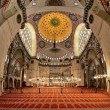 Interior of the Suleymaniye Mosque in Istanbul — Stock Photo #15764341
