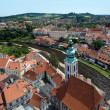 Stockfoto: View of Cesky Krumlov and St. Jost Church