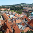 Stockfoto: View of Cesky Krumlov, Minorites monastery and St. Jost Church