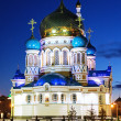 Uspensky Cathedral in Omsk at the evening, Russia - Stock Photo