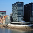 Hotel Hyatt Regency Dusseldorf in Media Harbour, Germany - Stock Photo