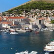 Dubrovnik harbor, Croatia - Stock Photo