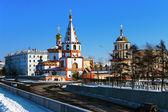 Cathedral of the Epiphany in Irkutsk — Stock Photo