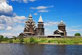 Wooden churches on island Kizhi — Stock Photo