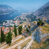 View of the Kotor and Kotor Bay, Montenegro — Stock Photo