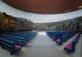 Interior of the Temppeliaukio Church in Helsinki, Finland — Stock Photo