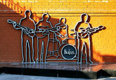 Monument to The Beatles in Yekaterinburg, Russia — Stock Photo