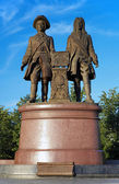 Monument to the founders of Ekaterinburg, Russia — Stock Photo