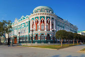 Building in neo-gothic style in Ekaterinburg, Russia — Stock Photo