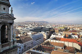 View at Budapest from the top of St. Stephen Basilica — Stock Photo