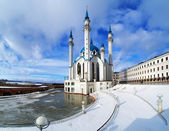 Qolsharif Mosque in Kazan Kremlin in winter — Stock Photo
