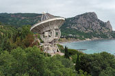 Radiotelescope of the Simeiz Observatory in Crimea — Stock Photo