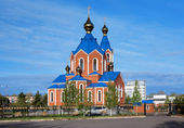 Cathédrale orthodoxe à komsomolsk-sur-l'amour — Photo