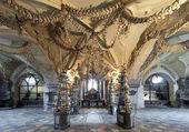 Wnętrze kaplica czaszek (kostnice), republika czeska — Zdjęcie stockowe