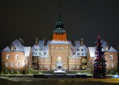 City Hall in Ostersund at winter evening, Sweden — Stock Photo