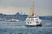Passenger ships in the Gulf of the Golden Horn, Istanbul — Stock Photo