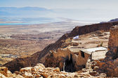 Ruins of fortress Masada, Israel — Stock Photo