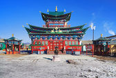 Temple of the Pure Land in the Ivolginsky Datsan, Russia — Stock Photo