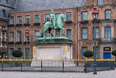 Equestrian statue of Jan Wellem in Dusseldorf, Germany — Stock Photo