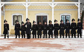 Changing of Royal Guards at the Royal Palace in Oslo, Norway — Stock Photo