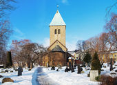 Gamle Aker Kirke - The oldest Church in Oslo — Stock Photo