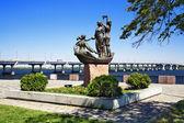 Sculpture in Dnipropetrovsk, Ukraine — Stock Photo