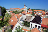 View of Cesky Krumlov, Castle and St. Jost Church — Stock Photo