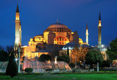 Evening view of the Hagia Sophia in Istanbul — Stock Photo