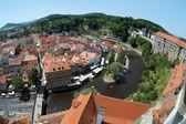 View of Cesky Krumlov and Vltava river, Czech Republic — Stock Photo