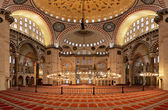 Interior of the Suleymaniye Mosque in Istanbul — Стоковое фото