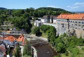 Cesky Krumlov Castle, Old Town and Vltava river — Stock Photo