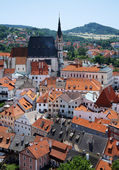 St. Vitus cathedral in Cesky Krumlov, Czech Republic — Stock Photo