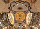 Ceiling and Dome of the Suleymaniye Mosque in Istanbul — Stock Photo