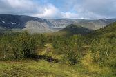 Takhtarvumchorr and Takhtarpor mountain ranges, Khibiny Mountain — Stock Photo