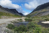 Vudyavrjok river in Khibiny Mountains, Russia — Stock Photo