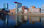 Media Harbour of Dusseldorf with buildings in modern style — Stock Photo