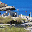 Ruins of the ancient basilica, Sevastopol, Crimea, Ukraine — Stockfoto