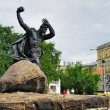 Stock Photo: Monument to Hero of Soviet Union A.F.Bredov, Murmansk