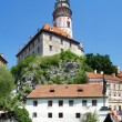 Stock Photo: Tower of the Cesky Krumlov Castle, Czech Republic