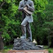 Statue of russian painter Vrubel in Omsk, Russia — Stock Photo