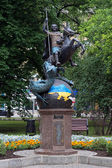 Sculpture of Saint George and Dragon in Donetsk, Ukraine — Stock Photo