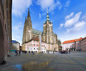 St. vitus katedrali prag, çek cumhuriyeti — Stok fotoğraf