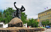 Monument to the Hero of the Soviet Union A.F.Bredov, Murmansk — Foto Stock