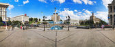 Panorama of the Independence Square in Kiev — Stock Photo