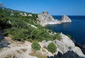 Rock Diva in the town Simeiz in Crimea — Stock Photo