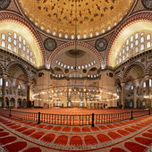 Interior of the Suleymaniye Mosque in Istanbul — Stock Photo