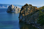 Cape Burhan and Shaman Rock on Olkhon Island — Stock Photo