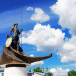 Onego - the sculpture in Petrozavodsk, Russia — Stock Photo #16027437