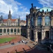 Fragment of the Zwinger Palace and Dresden Castle, Germany — Stock Photo